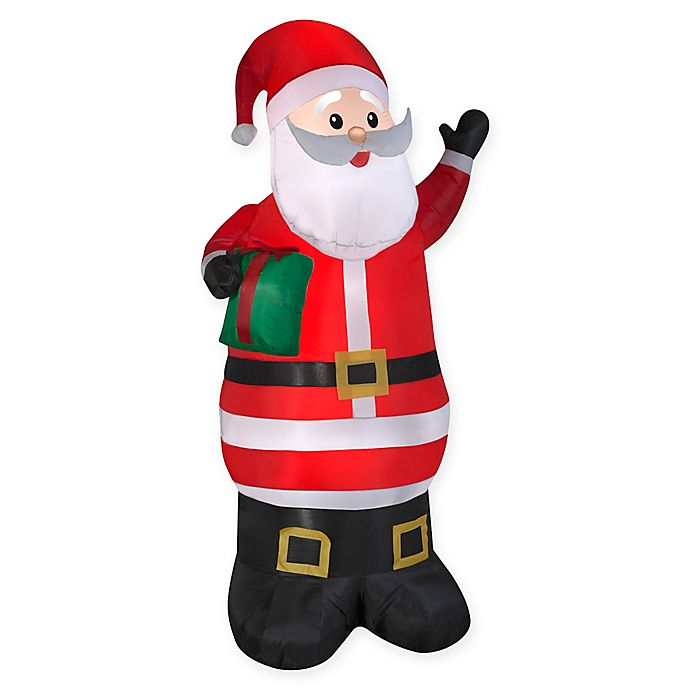 Alternate image 1 for 6-1/2 -Foot Inflatable Santa Claus Winter Yard Decor