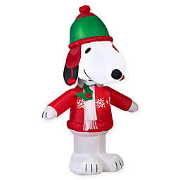 42-Inch Inflatable Snoopy Christmas Yard Decor