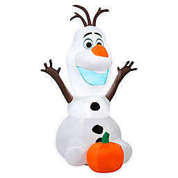 Inflatable Outdoor Sitting Olaf with Pumpkin Halloween Decoration