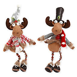 Gerson Holiday Moose Figurines (Set of 2)
