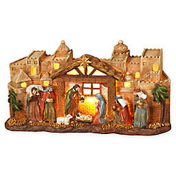 Gerson 12-Inch Lighted Nativity Scene