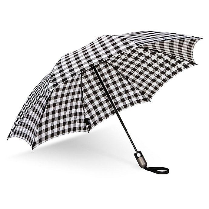 Alternate image 1 for UnbelievaBrella™ Reverse Compact Umbrella in Bison