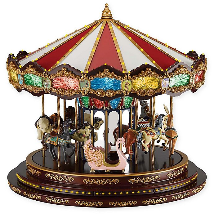 Alternate image 1 for Mr. Christmas Marquee Deluxe Carousel Music Box