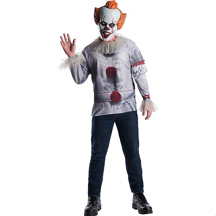 Alternate image 1 for IT Pennywise Men's Extra Large Halloween Costume