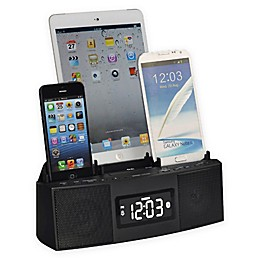 DOK 3 Port Smart Charger Bluetooth® Speaker Alarm Clock