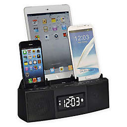 DOK 3 Port Smart Charger Bluetooth® Speaker Alarm Clock