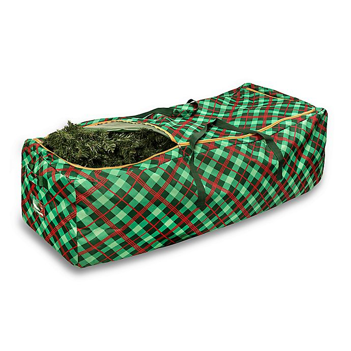 Alternate image 1 for Honey-Can-Do® Plaid Christmas Tree Storage Bag in Red/Green