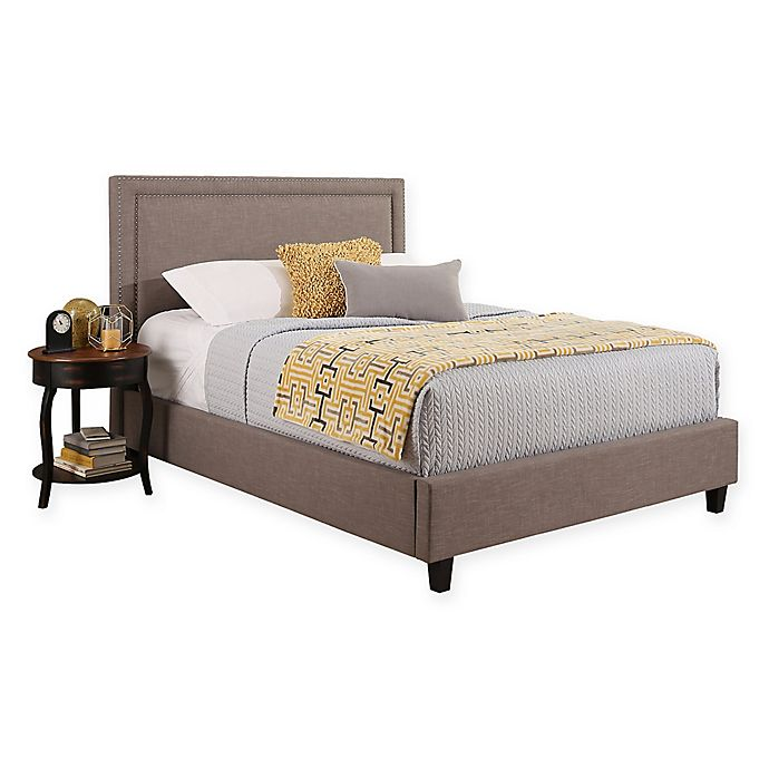 Abbyson Living Rowan King Upholstered Platform Bed In Grey Bed Bath Beyond
