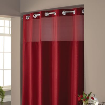 HooklessR Waffle 71 Inch X 74 Inch Fabric Shower Curtain In Rio Red