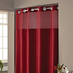 Hookless® Waffle 71-Inch x 86-Inch Fabric Shower Curtain in Rio Red