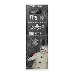 Gerson Baby It's Cold Outside Wood Holiday Wall Hanging