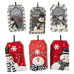 Gerson 6-Pack Clay Snowman Ornaments