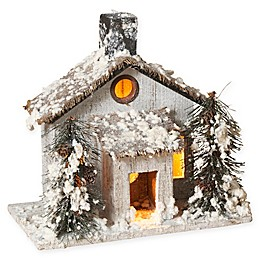 Gerson Lighted Wood House
