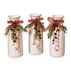 Gerson Dolomite Holiday Vases (Set of 3)