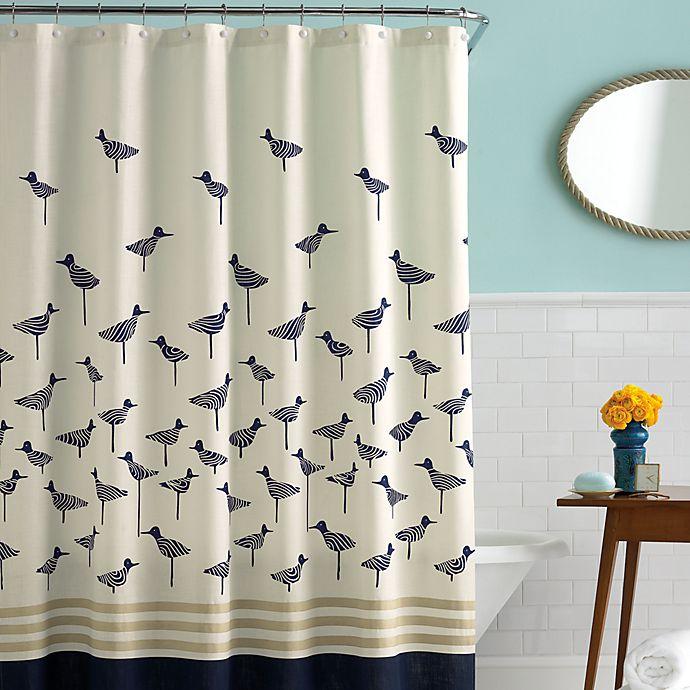 Kate Spade New York Sandpiper 72 Inch X Fabric Shower Curtain