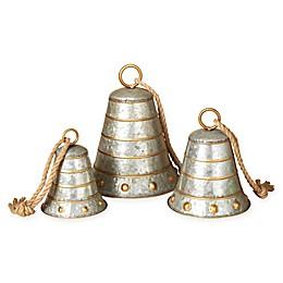 Gerson Galvanized Metal Bells (Set of 3)