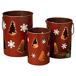 Gerson Nested Holiday Luminaries (Set of 3)