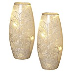 Gerson LED Frosted Glass Vases