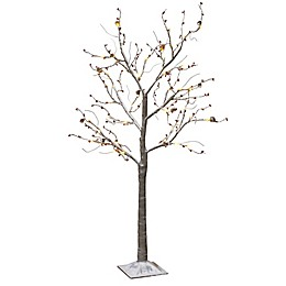 Gerson 4-Foot Lighted Winter Tree in Grey
