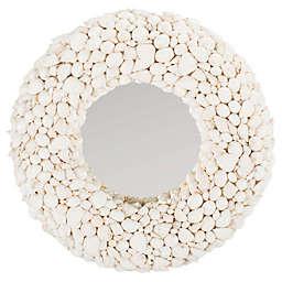 Safavieh Merrigan 20-Inch Round Mirror in White