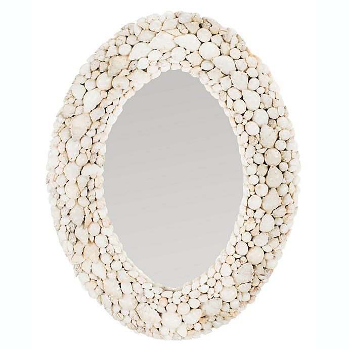 24 Inch X 18 Oval Mirror In White View A Larger Version Of This Product Image