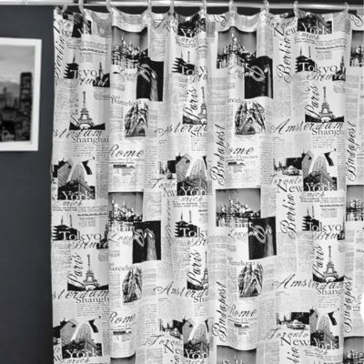 Passport 72 Inch X Fabric Shower Curtain