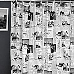 Passport Fabric Shower Curtain
