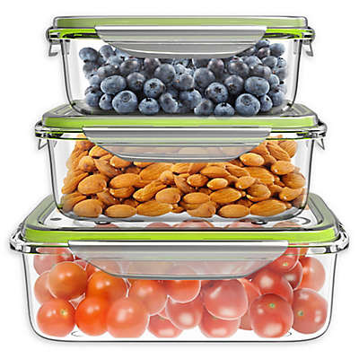 Classic Cuisine Clear Glass Food Storage Container Set