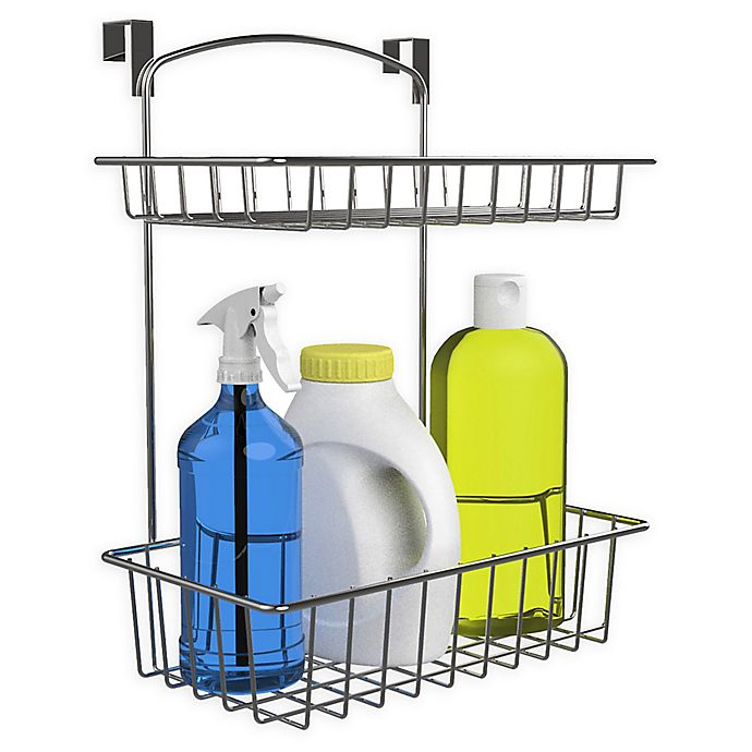 Alternate image 1 for Classic Cuisine 2-Tier Over The Cabinet Kitchen Storage Organizer Basket in Chrome