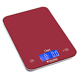 Ozeri® Touch II Digital Kitchen Scale with Microban Antimicrobial Protection in Red