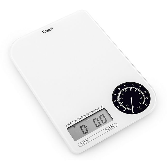 Alternate image 1 for Ozeri® Rev Digital Kitchen Scale with Electro-Mechanical Weight Dial
