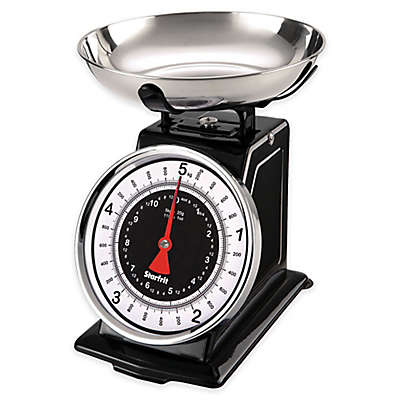 STARFRIT Mechanical Retro Analog Kitchen Scale in Black