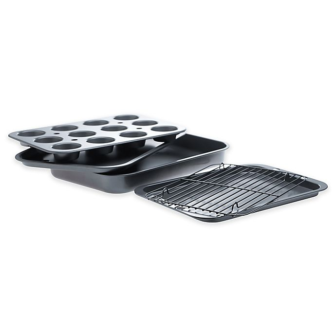 Alternate image 1 for Denmark 5-Piece Bakeware Set in Dark Grey