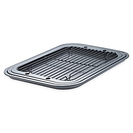 Denmark 4-Piece Cooking Sheet and Cooling rack Set in Dark Grey