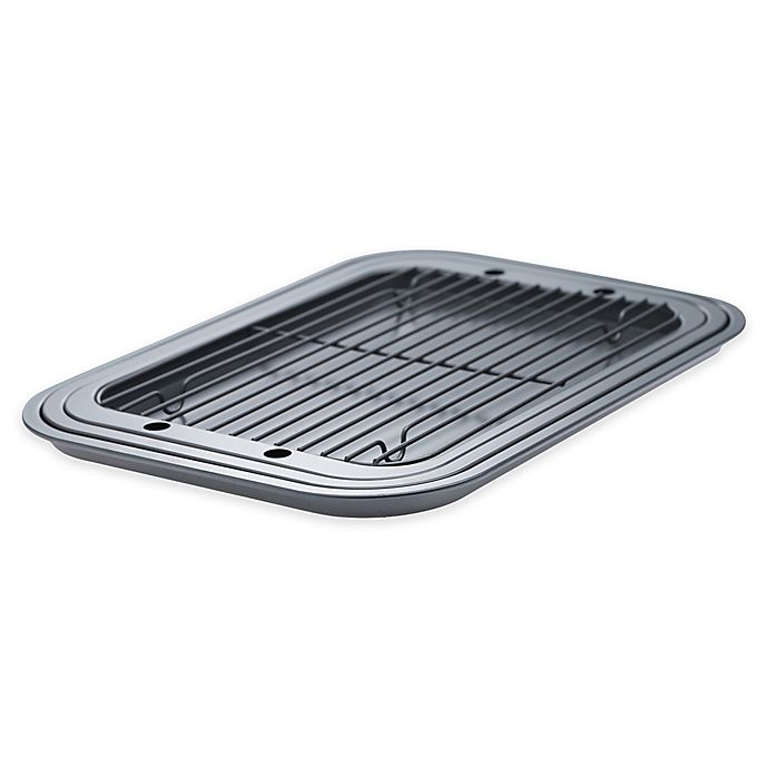 Alternate image 1 for Denmark 4-Piece Cooking Sheet and Cooling rack Set in Dark Grey