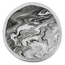 Thirstystone® Round Marble-Look Iron Coasters (Set of 4)