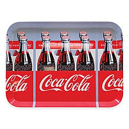 Coca-Cola® 6-Packs Graphic Rectangular Serving Tray in Red/Grey