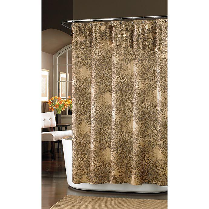 Nicole MillerR Wild At Heart 72 Inch X Fabric Shower Curtain