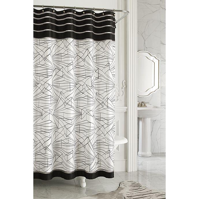 Nicole Miller Linear 72 X Fabric Shower Curtain