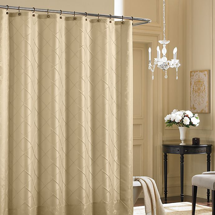 Alternate image 1 for Bombay™ Vivienne 72-Inch x 72-Inch Fabric Shower Curtain