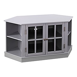 Southern Enterprises Thomas Corner Media Stand in Gray