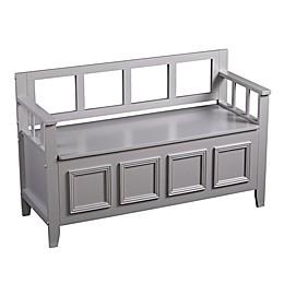 Southern Enterprises Richland Storage Bench in Grey