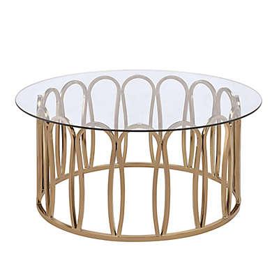 Scott Living Hemet Modern Coffee Table in Chocolate Chrome