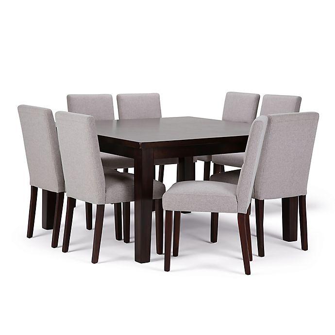 Alternate image 1 for Simpli Home Ashford 9-Piece Dining Set in Dark Java Brown/Cloud