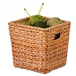 Honey-Can-Do® Woven Hyacinth Square Basket in Natural/Brown