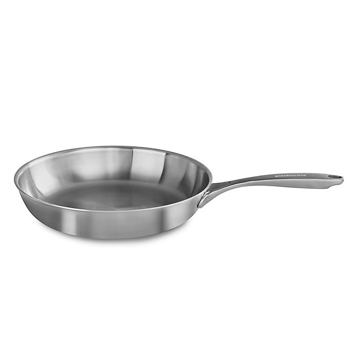 Alternate image 1 for Kitchenaid® 5-Ply Copper Core Stainless Steel Skillet