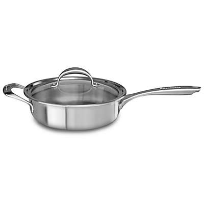 Kitchenaid® 3.5 qt. Copper Core Stainless Steel Covered Saute Pan with Helper Handle