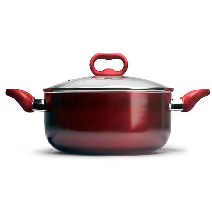 Alternate image 1 for Ecolution™ Bliss Nonstick 5 qt. Aluminum Dutch Oven in Candy Apple Red