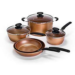 Ecolution™ Endure Nonstick Aluminum 8-Piece Cookware Set in Copper