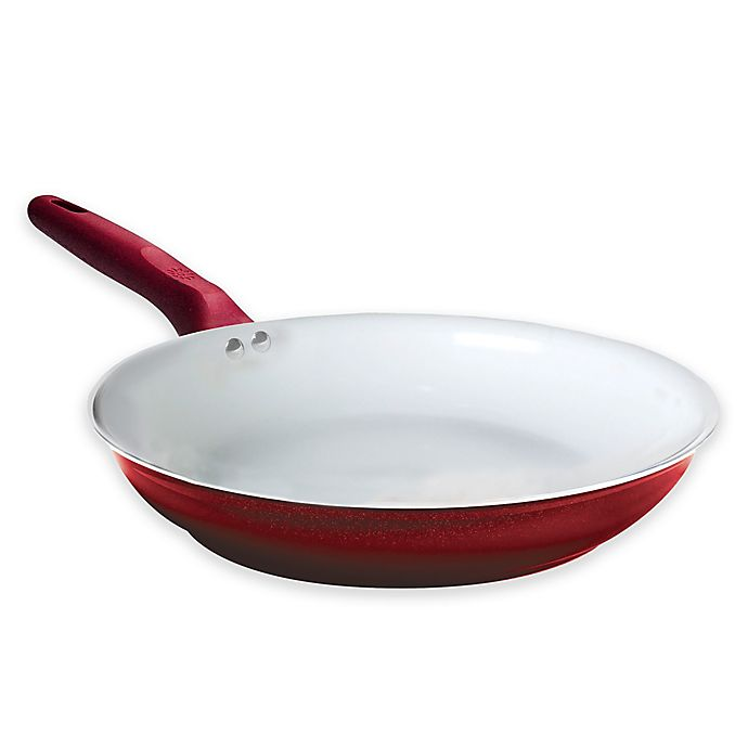 Alternate image 1 for Ecolution™ Bliss Nonstick Aluminum Fry Pan in Candy Apple Red